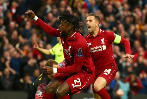 Divock Origi bringt Liverpool bereits in der 7. Minute in Führung. (Bild: Dave Thompson / AP)