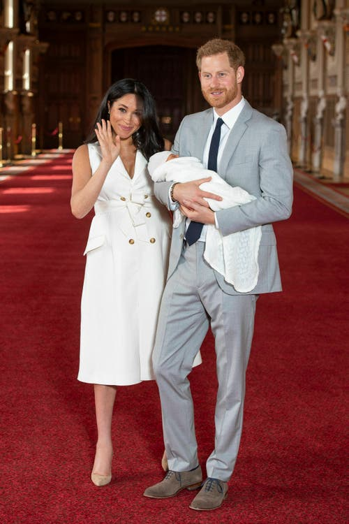 Meghan und Harry seien noch am Überlegen, was den Namen des Babys anbelangt. (Bild: Dominic Lipinski/Pool via AP)