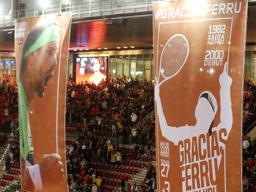 Eindrückliche Zahlen: David Ferrer gewann 27 ATP-Titel und war die Nummer 3 der Welt (Bild: KEYSTONE/EPA EFE/KIKO HUESCA)