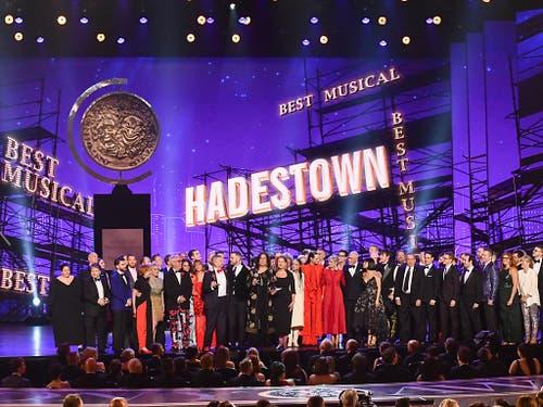 Die Broadway-Produktion «Hadestown» heimste bei der Verleihung der wichtigsten US-Theaterpreise acht Trophäen ein. (Bild: KEYSTONE/AP Invision/CHARLES SYKES)