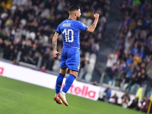 Den Treffer des Abends erzielt allerdings Lorenzo Insigne zum zwischenzeitlichen 1:1 (Bild: KEYSTONE/EPA ANSA/ALESSANDRO DI MARCO)