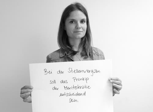 Vanessa Varisco, Volontärin Gemeinden Zug