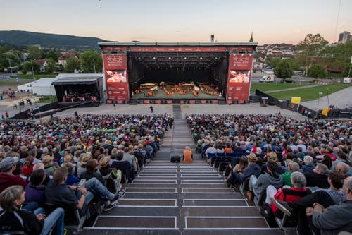 Die Turnfest Arena in Aarau. (Bild: Urs Flüeler / Keystone, Aarau, 13. Juni 2019)