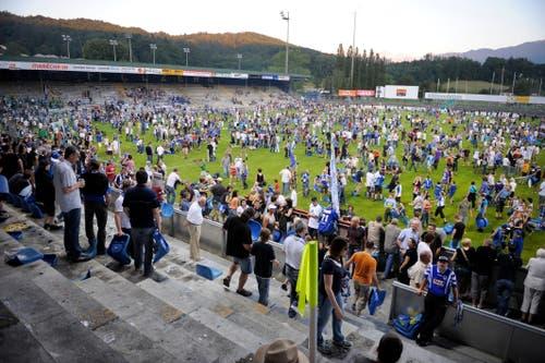 Blick ins Stadion. (Bild: Philipp Schmidli, Luzern, 13. Juni 2009)