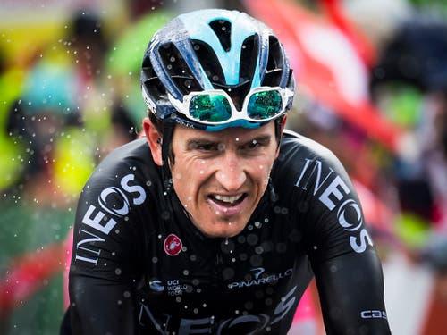 Geraint Thomas - im Bild an der Tour de Romandie diesen Frühling - ist der Star und der Favorit an der Tour de Suisse (Bild: KEYSTONE/JEAN-CHRISTOPHE BOTT)