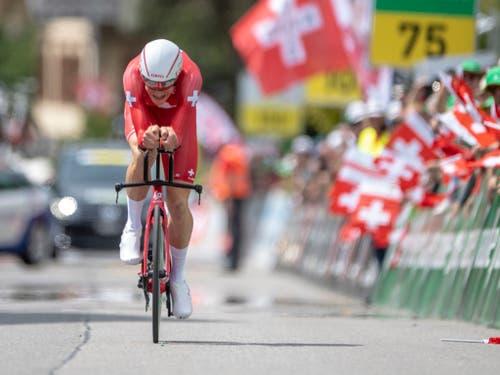 Stefan Küng konnte die Erwartungen der Schweizer Fans nicht erfüllen (Bild: KEYSTONE/URS FLUEELER)