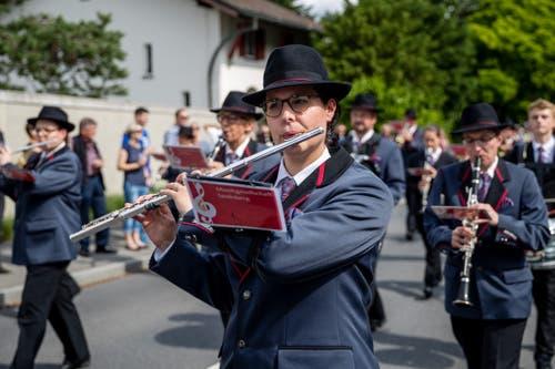Die Musikgesellschaft Seelisberg bei der Parademusik. (Bild: Philipp Schmidli, Hergiswil, 15. Juni 2019)