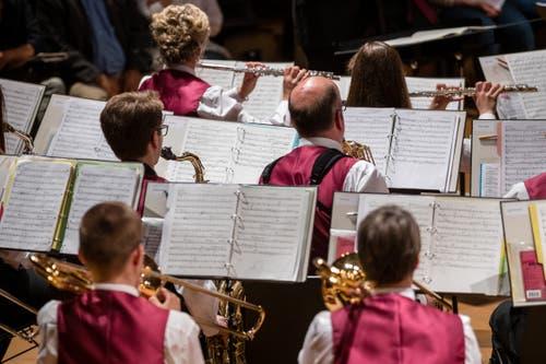 Musikgesellschaft Reichenburg. (Bild: Philipp Schmidli, Hergiswil, 15. Juni 2019)