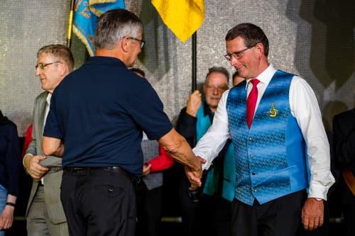 Prädikatübergabe an den Männerchor Hämikon am Innerschweizer Gesangfest am Sonntag, 16. Juni 2019 in Hitzkirch.