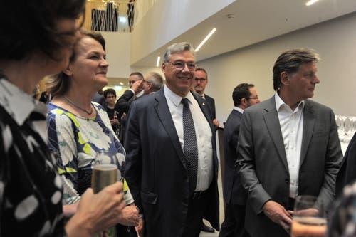 Auch Ständerat Filippo Lombardi (Mitte) war dabei. (Bild: Urs Hanhart, Andermatt, 16. Juni 2019)