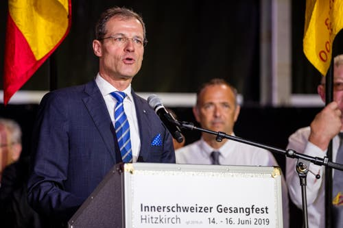 Regierungsrat Reto Wyss. (Bild: Philipp Schmidli, Hitzkirch, 16. Juni 2019)