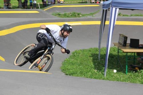 Jason Meier siegte beim «Pumptrack Race». (Bilder: Paul Gwerder, Schattdorf, 15. Juni 2019)