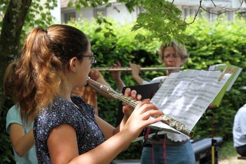 Musikalische Unterhaltung mit Querflöten. (Bild: PD)