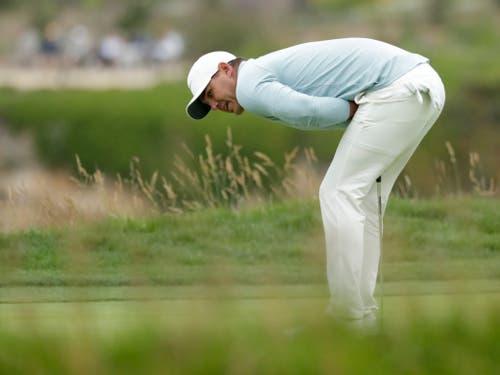 Brooks Koepka vergibt seine Birdie-Chance am 18. Loch - und die letzte Chance auf den Sieg (Bild: KEYSTONE/AP/MATT YORK)