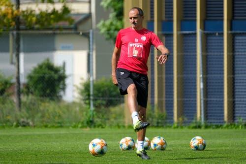 17.06.2019; Luzern; FUSSBALL SUPER LEAGUE - Training FC Luzern;Trainer Thomas Haeberli (Luzern) (Martin Meienberger/freshfocus)