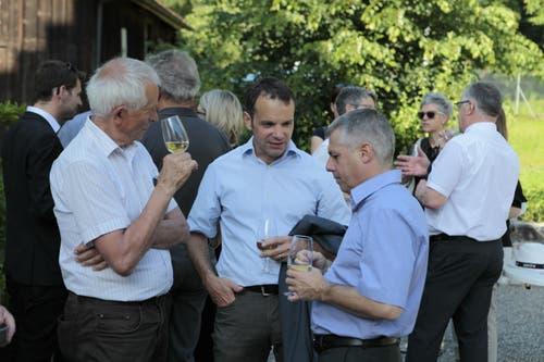 Vertreter aus Politik und Wirtschaft waren an der Wahlfeier. (Bild: Florian Arnold, 19. Juni 2019)