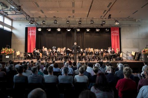 Die Jugendmusik Hochdorf JBO Oberseetal beim Auftritt am Jugendmusiktag in Altishofen am 25. Mai 2019. (Bild: Manuela Jans-Koch | LZ)