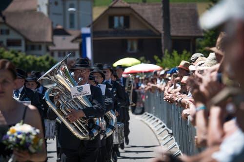 Die Musikgesellschaft Pfaffnau bei der Parade. (Bild: Roger Grütter, Altishofen, 2. Juni 2019)