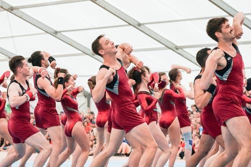 Impressionen vom Eidgenössischen Turnfest in Aarau. (Bild: Claudio Thoma/freshfocus, Aarau, 22. Juni 2019)