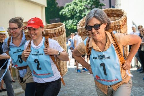 Bäuerin Andrea Iten, Eveline Galliker und Silvia Thalmann-Gut.