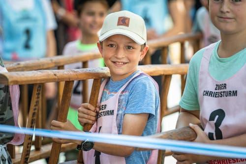 Ein Schüler der Primarschule Kirchmatt am Start.