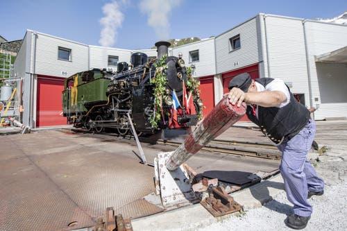 1990 wurde sie von Spezialisten des Vereins Dampfbahn-Furka-Bergstrecke zurück in die Schweiz gebracht. (Bild: Urs Flüeler / Keystone, 25. Juni 2019)