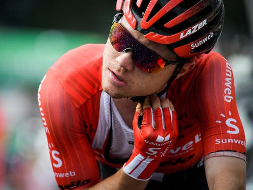 Marc Hirschi vom Team Sunweb verlor in Weinfelden 46 Sekunden auf Sieger Stefan Küng (Bild: KEYSTONE/GIAN EHRENZELLER)