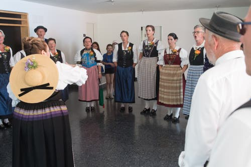 Wettvortrag der Jodler. (Bild: Boris Bürgisser, Horw, 28.06.2019)