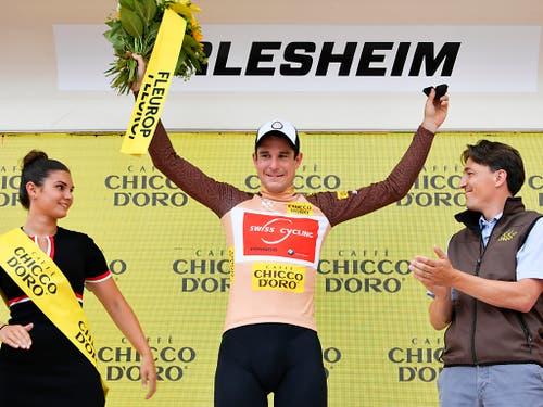 Eindrückliche Parforce-Leistung: An der Tour de Suisse trug Claudio Imhof bis drei Etappen vor Schluss das Bergpreis-Trikot, wenige Tage später trumpfte er in Minsk an den Europa-Spielen mit zwei Bronzemedaillen auf der Bahn auf (Bild: KEYSTONE/GIAN EHRENZELLER)