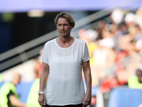 Martina Voss-Tecklenburg, bis vor einem Jahr noch Schweizer Nationaltrainerin, verpasste mit Olympiasieger Deutschland mit dem Viertelfinal-Out auch die erneute Olympiaqualifikation (Bild: KEYSTONE/AP/DAVID VINCENT)