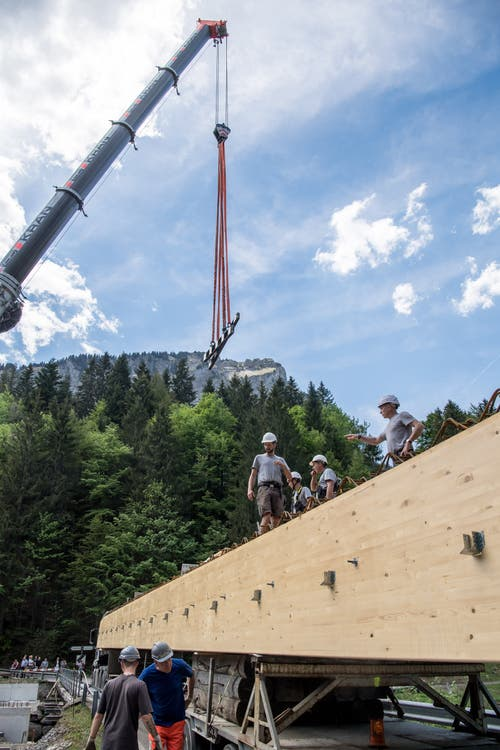 Die alte Stillaubbrücke (rechts) wird im August abgebaut. (Bild: Nadia Schärli, 3. Juni 2019)