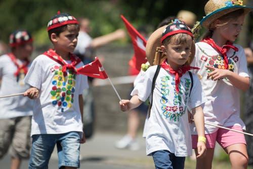 Impressionen vom Festumzug - der Kindergarten Horw. (Bild: Boris Bürgisser)