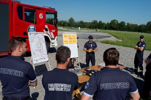 Die FFZ probt den Ernstfall am Esaf. (Bild: Maria Schmid, Zug, 29. Juni 2019 )
