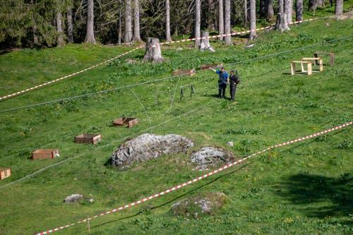 Drei Personen seien leicht verletzt und noch vor Ort behandelt worden. (Bild: Urs Flüeler/Keystone, Engelberg, 5. Juni 2019)