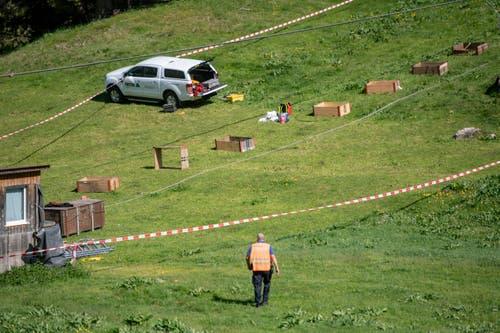 Der Arbeitsunfall ereignete sich bei der Gerschnialp. (Bild: Urs Flüeler/Keystone, Engelberg, 5. Juni 2019)