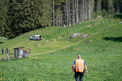 Der tödliche Unfall ereignete sich während den Revisionsarbeiten an der Gondelbahn zwischen Engelberg und Trübsee. (Bild: Urs Flüeler/Keystone, Engelberg, 5. Juni 2019)