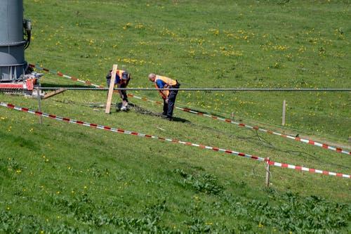 Alle drei Verletzten seien von der Rega zur weiteren Behandlung in ausserkantonale Spitäler geflogen worden. (Bild: Urs Flüeler/Keystone, Engelberg, 5. Juni 2019)
