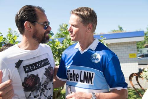 Urs «Longo» Schönenberger ist nach wie vor ein beliebter Gesprächspartner bei den Luzerner Fans. (Bild: Eveline Beerkircher-Bachmann (Sempach, 8. Juni 2019))