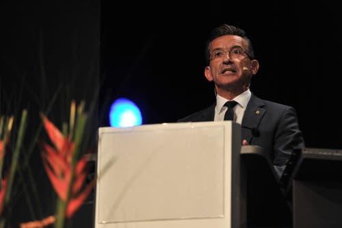 Lehrabschlussfeier in Altdorf. Bildungsdirektor Beat Jörg hielt die Festansprache. (Bild: Urs Hanhart, Altdorf, 1. Juli 2019)