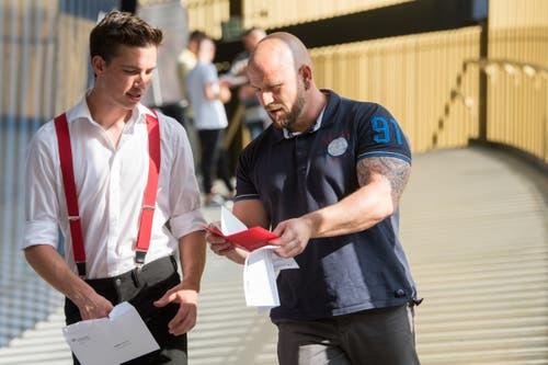 Impressionen der Abschlussfeier der Gebäudetechniker. (Bild: Boris Bürgisser, Swissporarena Luzern, 4. Juli 2019)