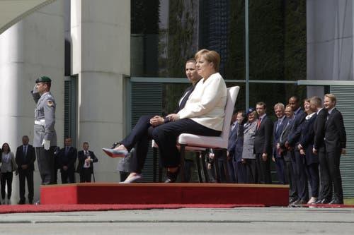 Die deutsche Staatsoberhäuptin empfing die neue dänische Ministerpräsidentin Mette Frederiksen. (AP Photo/Markus Schreiber)