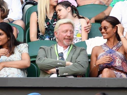 In Wimbledon trotz Finanzproblemen immer noch gern gesehen: Boris Becker (Bild: KEYSTONE/EPA/GERRY PENNY)