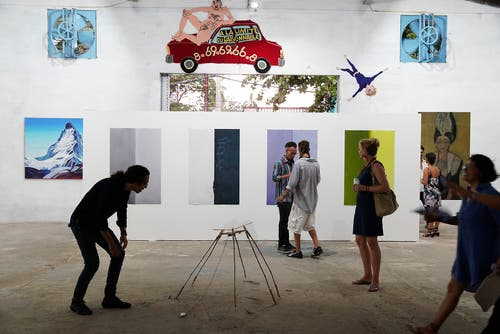 Blick in den Revolution Art Space. (Bild: Nique Nager, Havanna, Juni 2019)