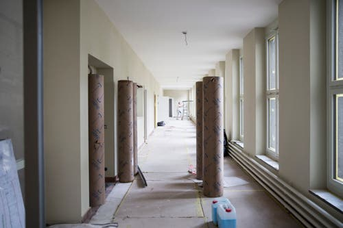 Das erste Obergeschoss des «Verwaltungsgebäudes». (Bild: Manuela Jans-Koch, Luzern, 11. Juli 2019)