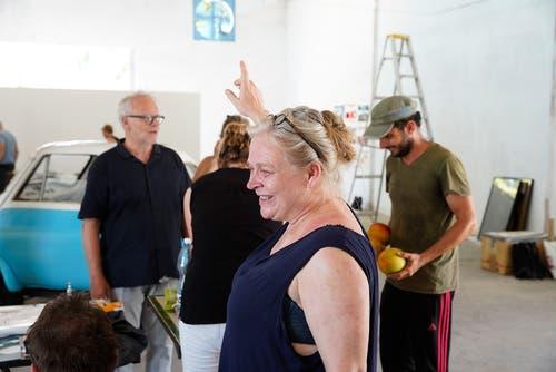 Galeristin Evelyne Walker aus Luzern. (Bild: Nique Nager, Havanna, Juni 2019)