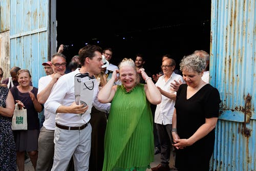 Freude über die gelungene Vernissage. (Bild: Nique Nager, Havanna, Juni 2019)