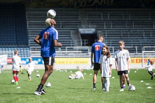 Impressionen der FCL Saisoneröffnung mit dem Kids Training in der Swissporarena. Fotografiert am 14. Juli 2019 in Luzern(Manuela Jans-Koch | LZ)