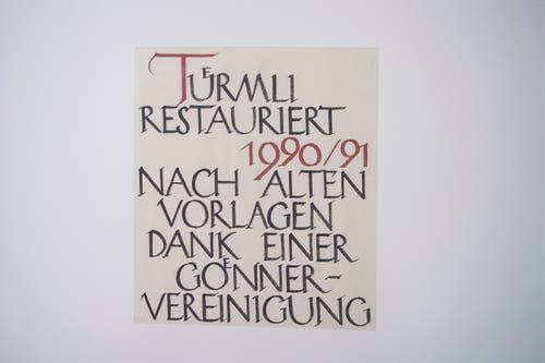 Das historische Restaurant wurde 1750 erbaut. (Bild: Urs Bucher)