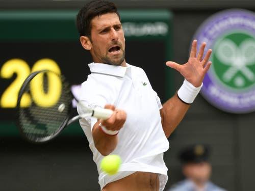 Novak Djokovic «weiss», was ihn gegen den formstarken Roger Federer erwartet (Bild: KEYSTONE/AP POOL EPA/ANDY RAIN)