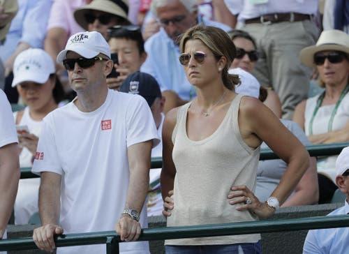 Auch Gattin Mirka Federer lässt sich die Partien ihres Mannes nicht entgehen. (Bild: Keystone)